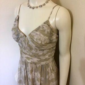 BCBG Paris Taupe Lily Silk Cocktail Dress L 10